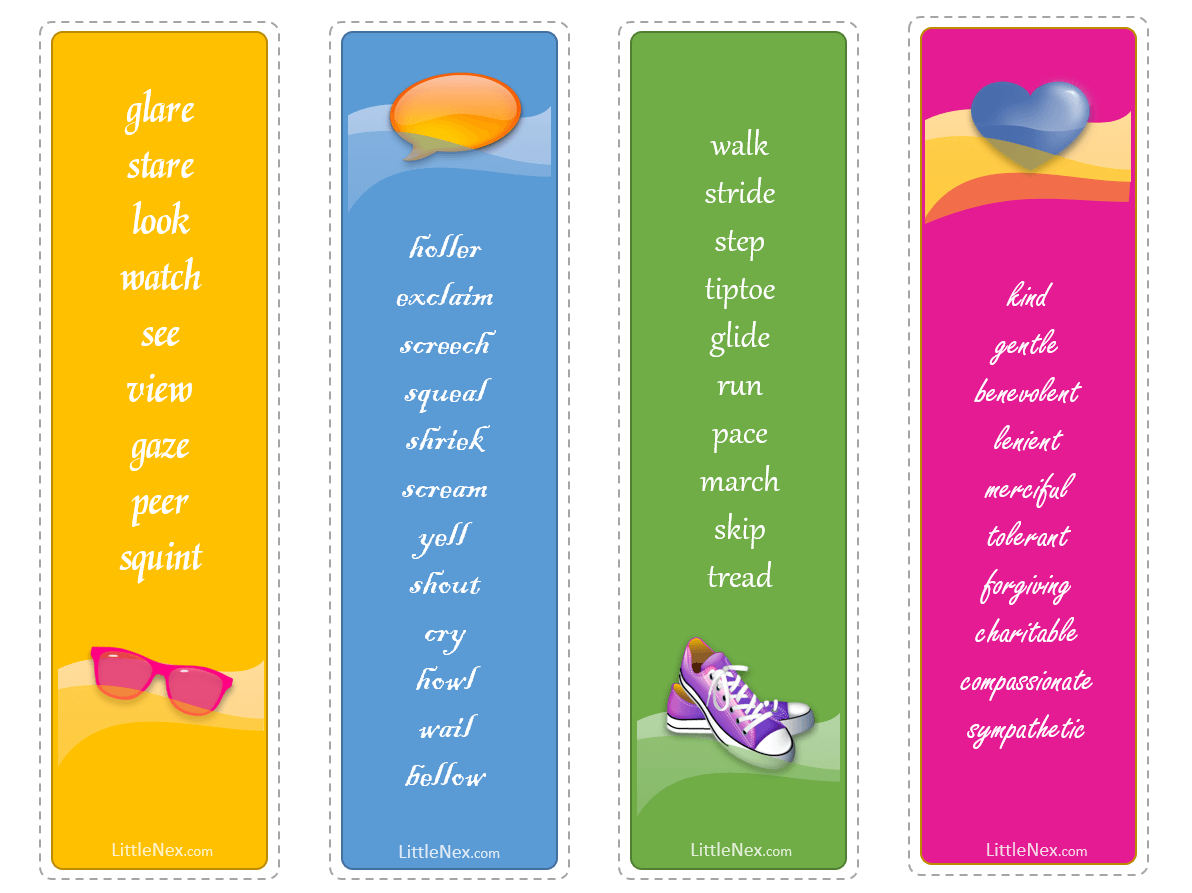 Bookmarks to Print Out